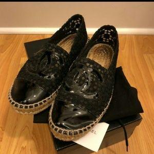 Chanel Espadrilles black lace